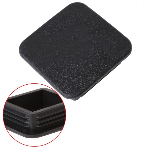 universal class iii iv 2inch black trailer hitch cover plug receiver