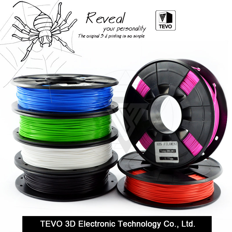 ABS Plastic 3D Printer 1kg 1 75MM Supplies Filament for RepRap 3D filament ABS filament 1