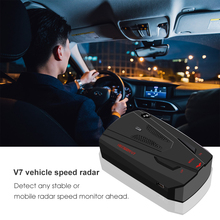 Автомобильный радар-детектор электроники 360 градусов 16 диапазона V7 безопасный вождения Анти радар детектор Скорость голосового оповещение, предупреждение не gps