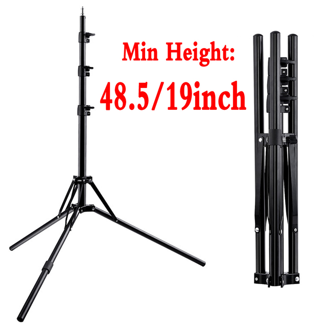 Foldable Light Stand Tripod With 1/4 Screw For Led Ring Light umbrella Softbox Lightbox Reflector Flash Light Support