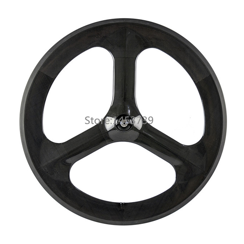 700C Full Carbon 70mm Tri Spoke bicycle Wheel Front Rear Wheel For Road / Track Bike Carbon three 3 Spoke Wheel wheel up bicycle rear seat trunk bag full waterproof big capacity 27l mtb road bike rear bag tail seat panniers cycling touring
