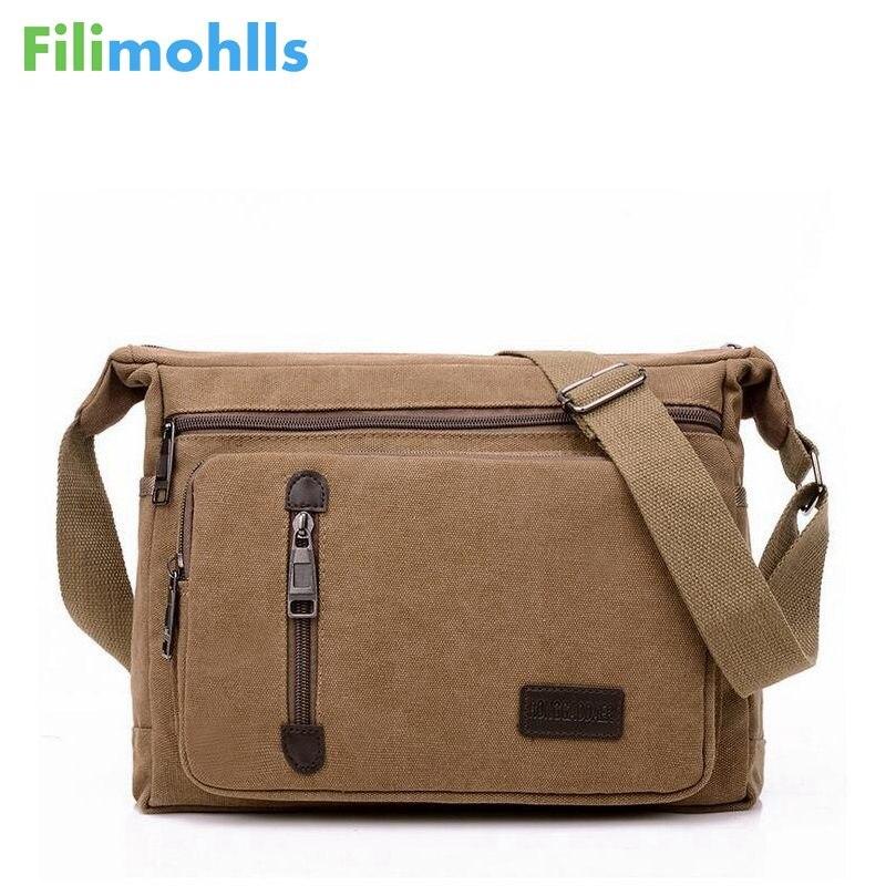 Men Bags Vinatge Canvas Messenger Bags 2019 Designer Brand Men's Fashion Crossbody Shoulder Bag Male Casual Travel Bag S951