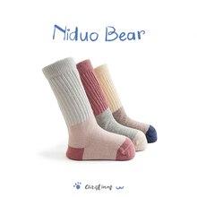 Niduo Bear 2019 Cute Love Newborn Baby Socks Knee Soft Girl Boys Sokken Infant Toddler Stripe Anti Slip neonato