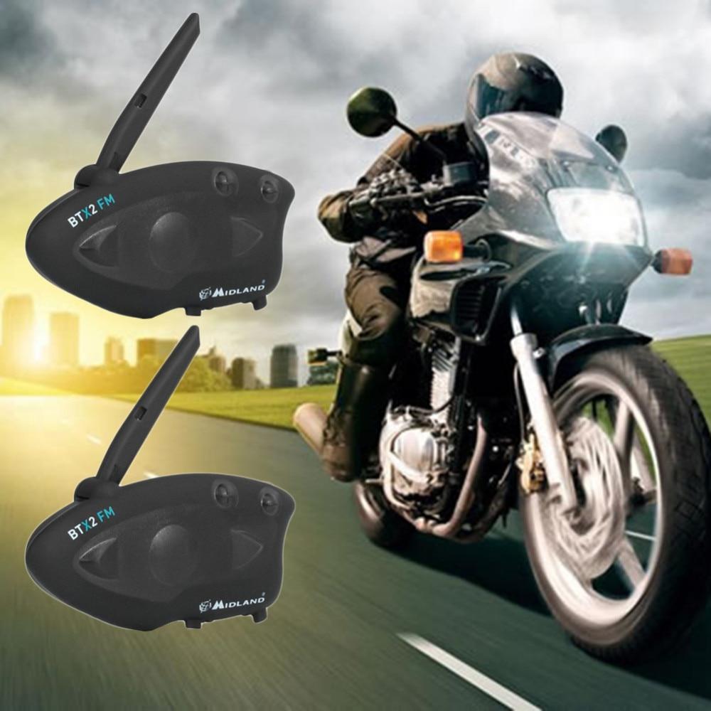 2 PCS/Pack casque de moto en temps réel casque Bluetooth interphone casque de moto casque interphone Bluetooth