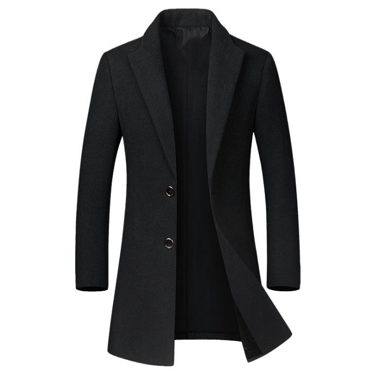 Winter Wool Coat Slim Collar 2