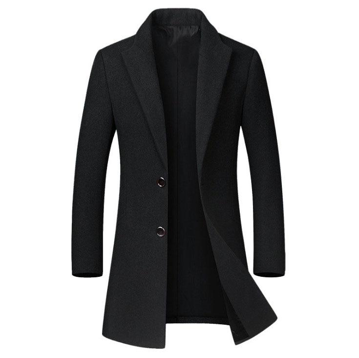 Winter Wool Coat Slim Collar 2
