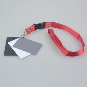 Image 2 - 3in1 Pocket Size Digital Bianco Nero Grigio Balance Carte di Accessori Della Fotocamera Scheda Grigia al 18% con Laccio da collo per il Digitale fotografia