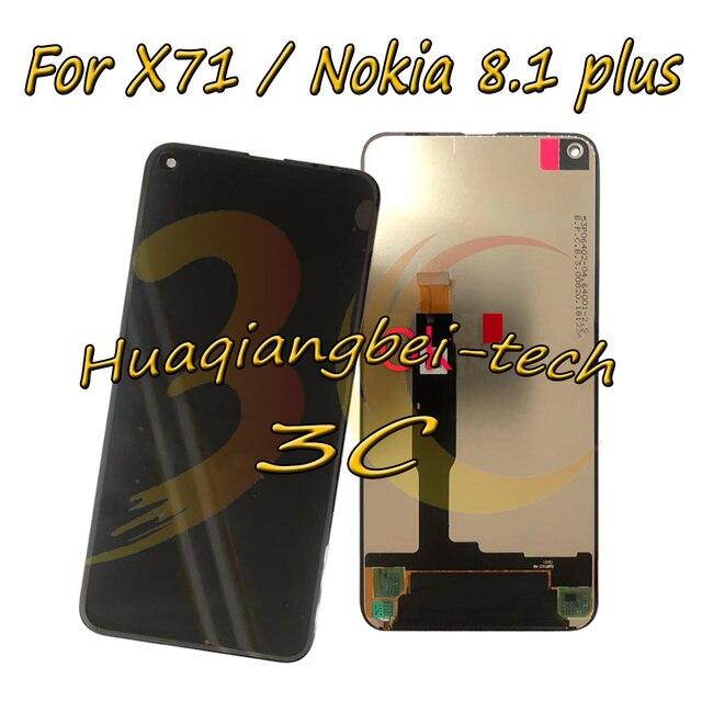 6.39 ''שחור חדש עבור Nokia 8.1 בתוספת TA-1188 מלא LCD תצוגה + מסך מגע Digitizer עצרת עבור נוקיה X71 TA-1167 100% נבדק