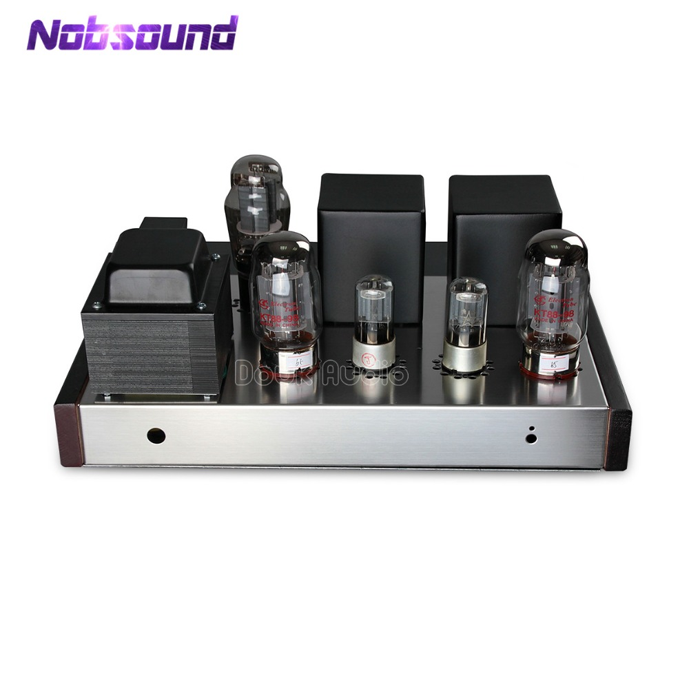 Nobsound Lastest KT88 Single-ended Class A Tube Amplifier Vacuum HiFi Single-Ended Stereo Amp 16W+16W Full DIY KIT hifi stereo 6n2 6p1 single ended class a tube amplifier amp board diy kit