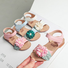 Toddler Girl Sandals Infant Kids Baby Girls Casual Single Flower Hook Shoes Sandals Kids Summer