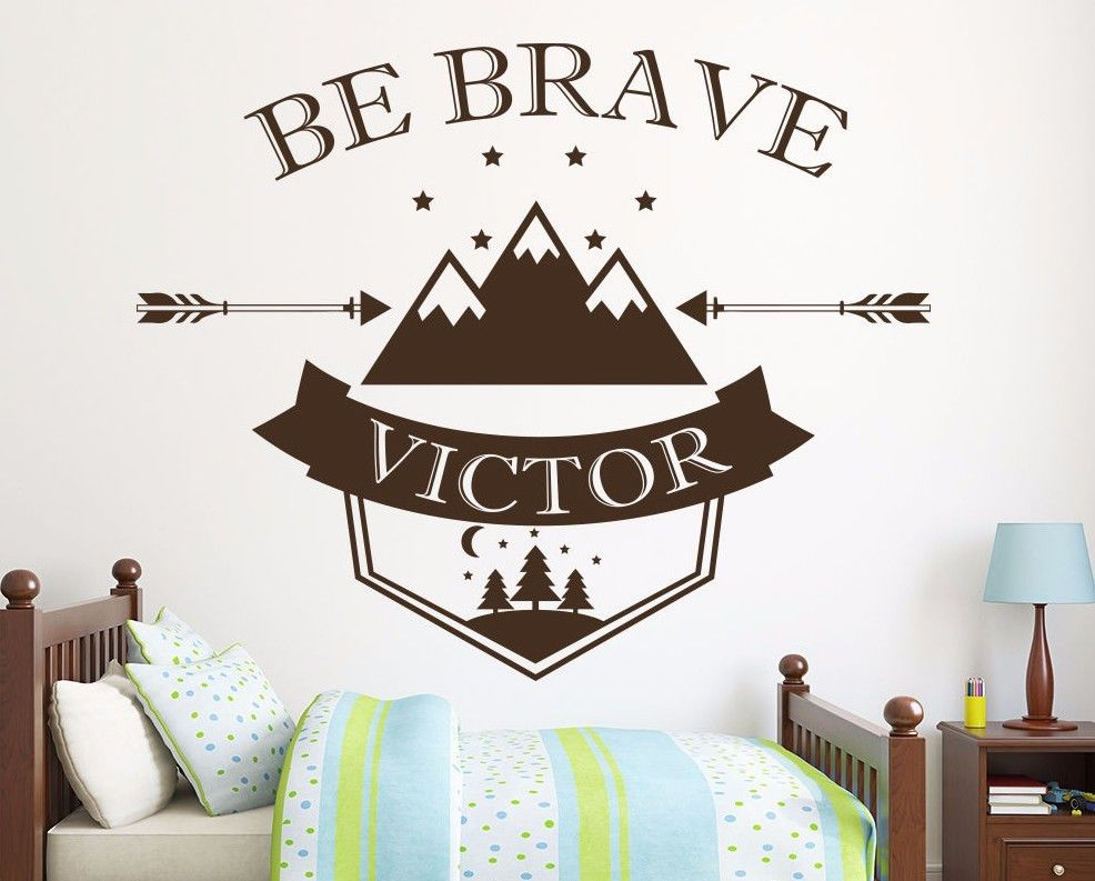 be brave wall decals custom name wall decals arrow decal nursery