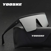 YOOSKE Oversized Sunglasses Men Vintage Brand Driving Sun Gl