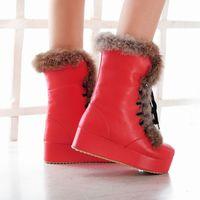 осень и зима тепловой сладкий снегоступы средний - ног сапоги принцесса свободного покроя шнуровкой сапоги