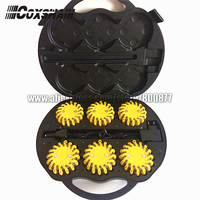 Rechargeable 6 Packs LED Traffic Warning Light Emergency LED Road Flares Safety Beacon LED Traffic Warning