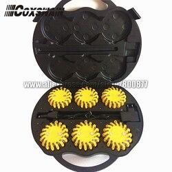 6 paquetes recargables de luz LED de advertencia de tráfico, luces LED de emergencia de seguridad para carreteras, baliza LED de advertencia de tráfico, luces de bola de fuego