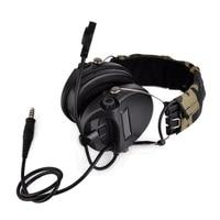 Tactical Softair Sordin Headset Noise Reduction Earphone Hunting Airsoft Headphone BK