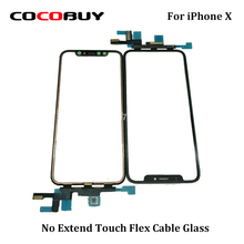 цена на 1pcs Original new glass For iPhone x cracked LCD display touch screen front out glass panel replacement repair refurbish