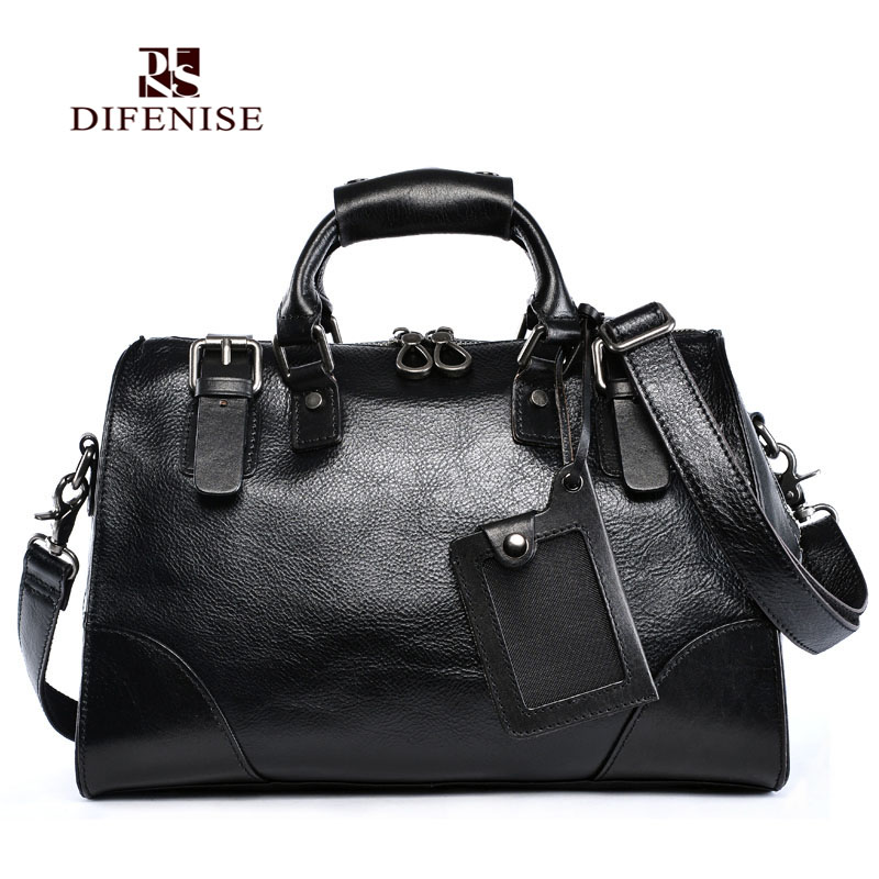 все цены на  Difenise Handmade Boston Women Genuine Leather Handbags Large Capacity Fashion shoulder Bags Solid Zipper High quality Handbags  в интернете