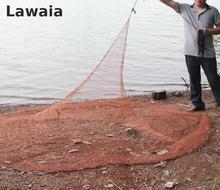 Lawaia Fly Fishing Cast Net Salmon River Fishing Net 3.6m A Fishing Net Monofilament Netting Mesh 1*1cm Iron Sinkers