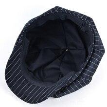 2017 Spring and autumn men newsboy cap girl octagonal hats for women beret hat bone women striped vintage caps chapeu feminino