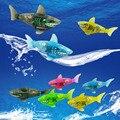 Bath toy Robo fish Activado Batería Powered Robot Fish Juguete Feliz Childen Niños Shark Pet 5 colores regalo de Navidad