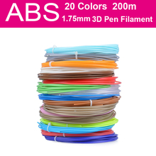 1 75MM ABS Filament Materials 200 Meters 20 Colors For 3D Printing
