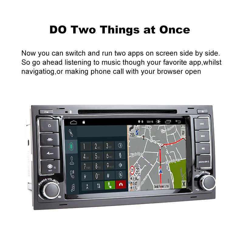 2 Din アンドロイド 9.0 車のマルチメディアプレーヤー VW/フォルクスワーゲン/トゥアレグ/トランスポーター T5 2004-2011 AutoRadio DVD GPS ナビゲーション 2 グラム RAM