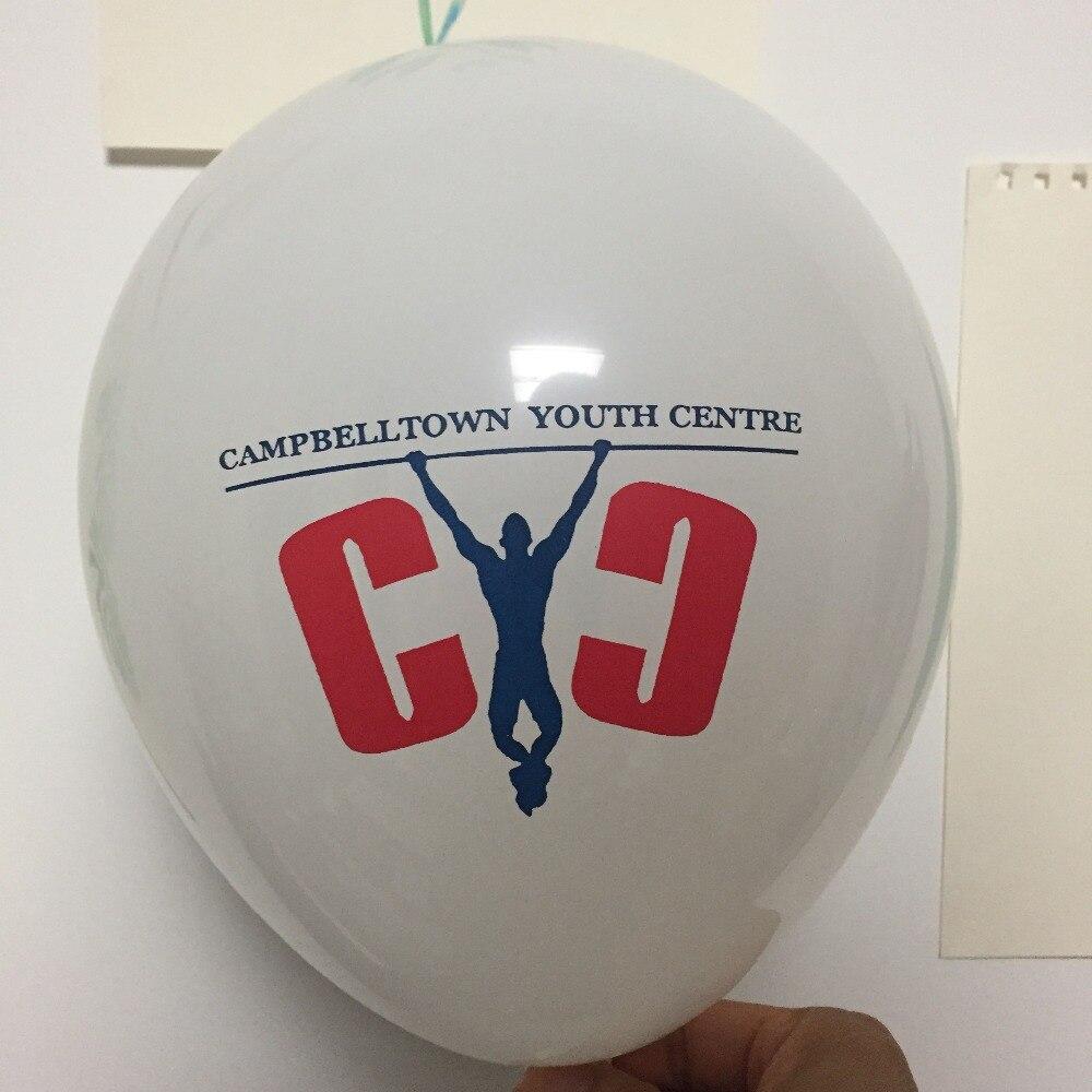 """Ev ve Bahçe'ten Balonlar ve Aksesuarları'de 2 renk baskı 1000 adet 12 """"2.8g Özel balon lateks balon Şirket Tanıtım balaos özelleştirmek globos baskılı oyuncak balon logosu'da  Grup 1"""