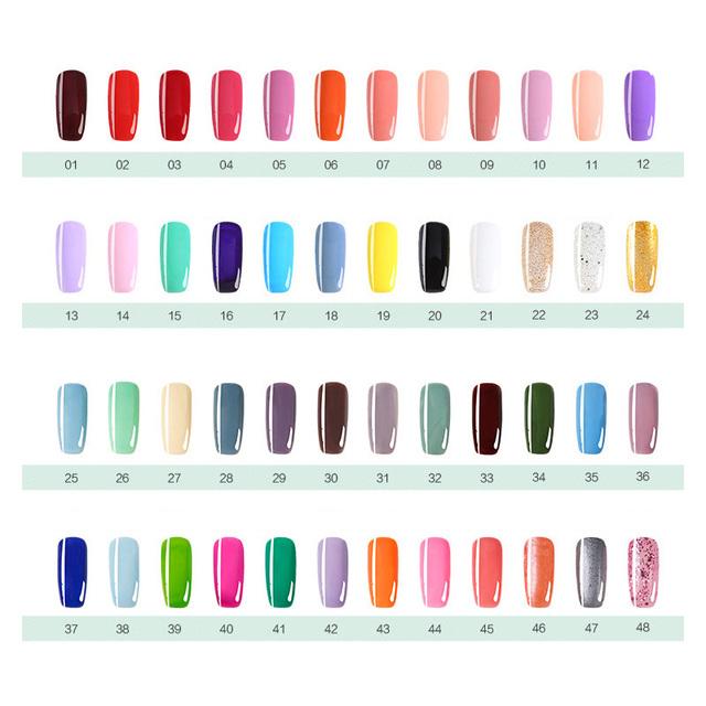 7ml Nail Polish Gel Paint Peelable Water Based Nails Art Glue Quick Drying Beauty Tools 48 Colors