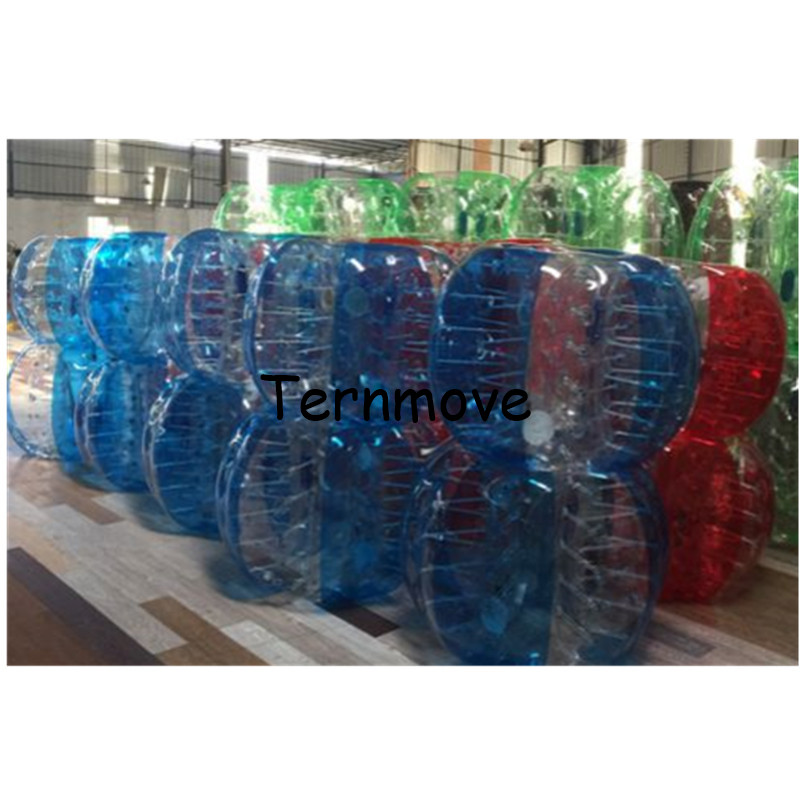 Body Inflatable bubble Air Bumper body zorb ball transparent human bumper balls with dot sports toy game ball