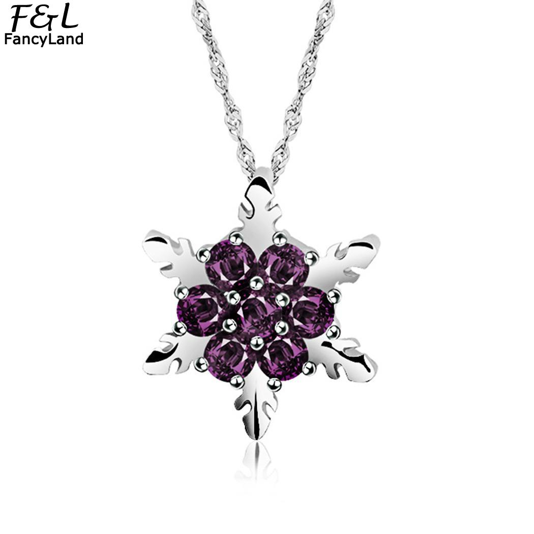 Amicable Winter Christmas Wholesale Jewelry Geometric Snowflake Necklace Choker Snow Crystal Necklace Boho Pure Wedding Accessories