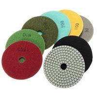 Doersupp 8Pcs 4 Inch 100mm Wet Dry Diamond Polishing Pads Set For Granite Stone Concrete Marble