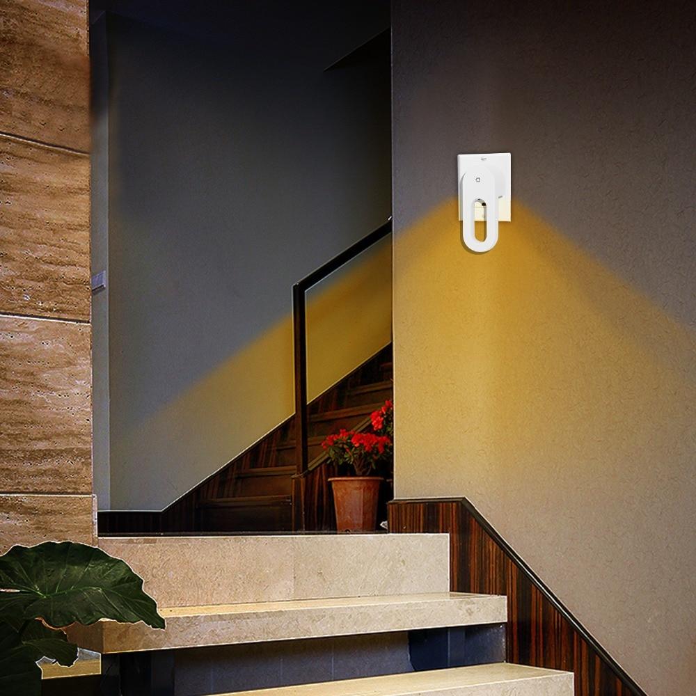 4 Pieces LED Night Light Bedside Lamp Wall  EU/US Plug AC 110-240V Home Decoration For Children Baby Bedroom