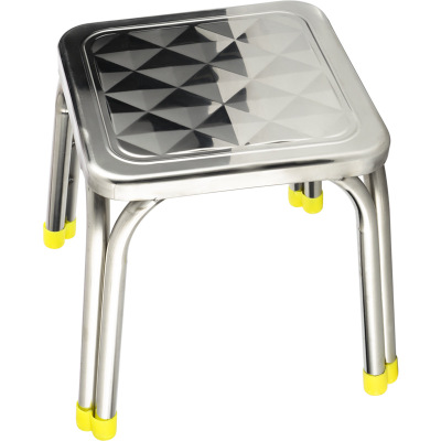Wholesale 29*25cm Square diamond stripe stool Four feet Non-magnetic metal stoolWholesale 29*25cm Square diamond stripe stool Four feet Non-magnetic metal stool