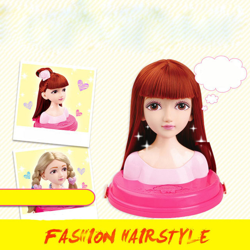 Fashion Hair Stylist Doll Makeup Tiara Practice Comb Head Tie Scorpion Girl Play House Toy Girl Puzzle Toy Gift