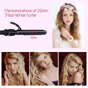 Image 2 - 3 ขนาด LCD เซรามิค Barrels ลึก WAVE Crimper Curler ผม Waver ไฟฟ้า Curling Iron Salon Anion Curls Hair Styler tool42
