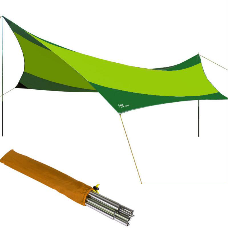 FLYTOP Recreation Outdoor Tent Shelter The Sun Awning Collapsible Gazebo Canopy Beach Tents Camping Sun Shade Beach Tent outdoor summer tent gazebo beach tent sun shelter uv protect fully automatic quick open pop up awning fishing tent big size