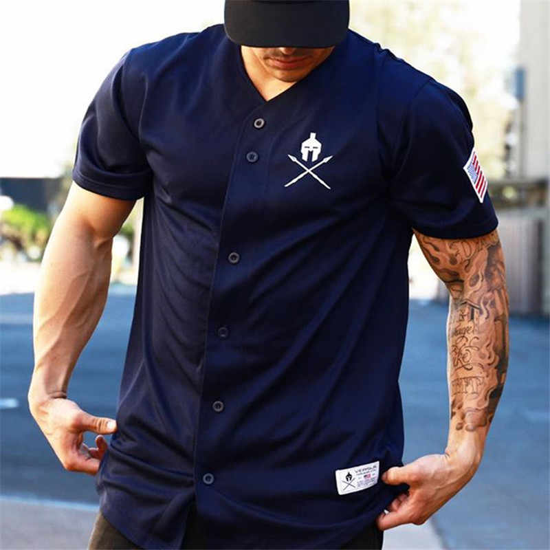 2019 New Men Gyms T shirt Crossfit Brand Clothing Fitness T-shirt compression Short Sleeve Tshirt Bodybuilding Workout Tee-shirt