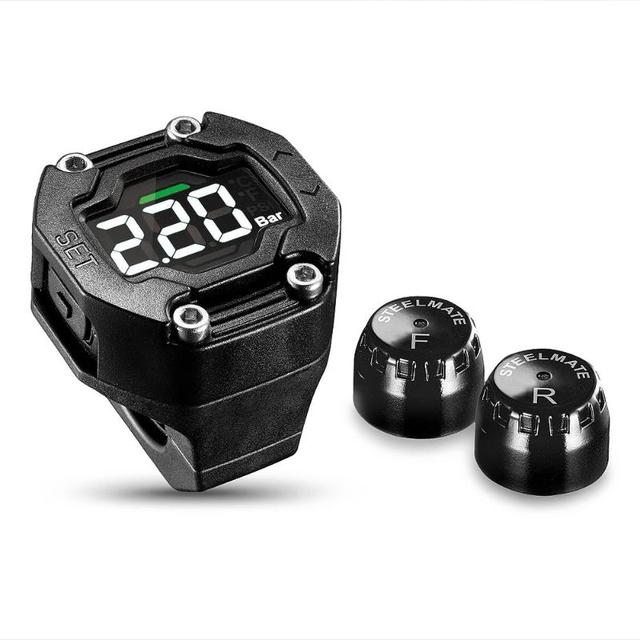 TPMS Motorcycle Wireless Tire Pressure Monitoring System Digital TPMS Motorcycle Tire Pressure Alarm Systems Security ET-900AE
