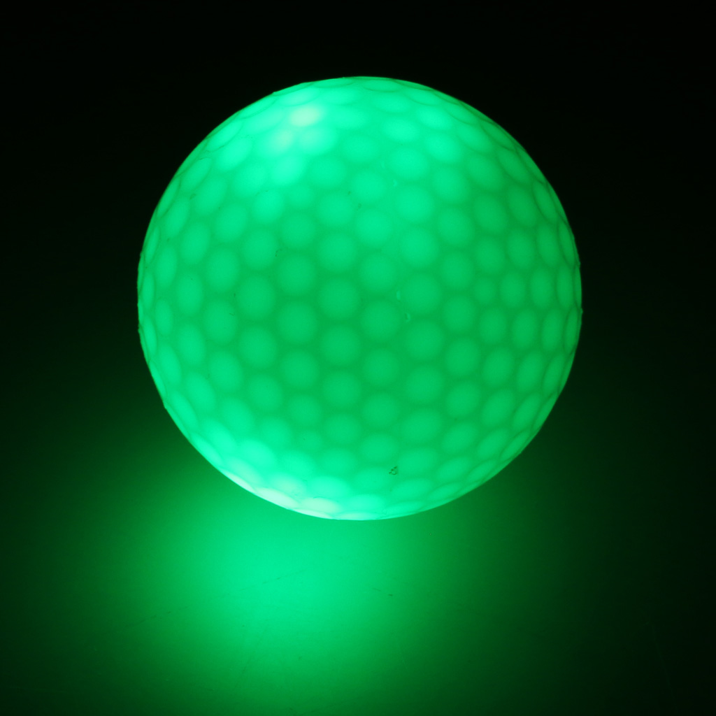 Golf Balls Elastic Ultra Bright Glow In the Dark Night Golf Match Game Pratice Ball Multi Color Choice Durable in Golf Balls from Sports Entertainment