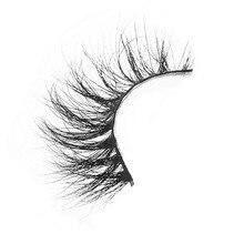 D008 1Pair 100% Real Siberian 3D Mink Full Strip False Eyelash Long Individual Eyelashes Mink Lashes Extension Tools