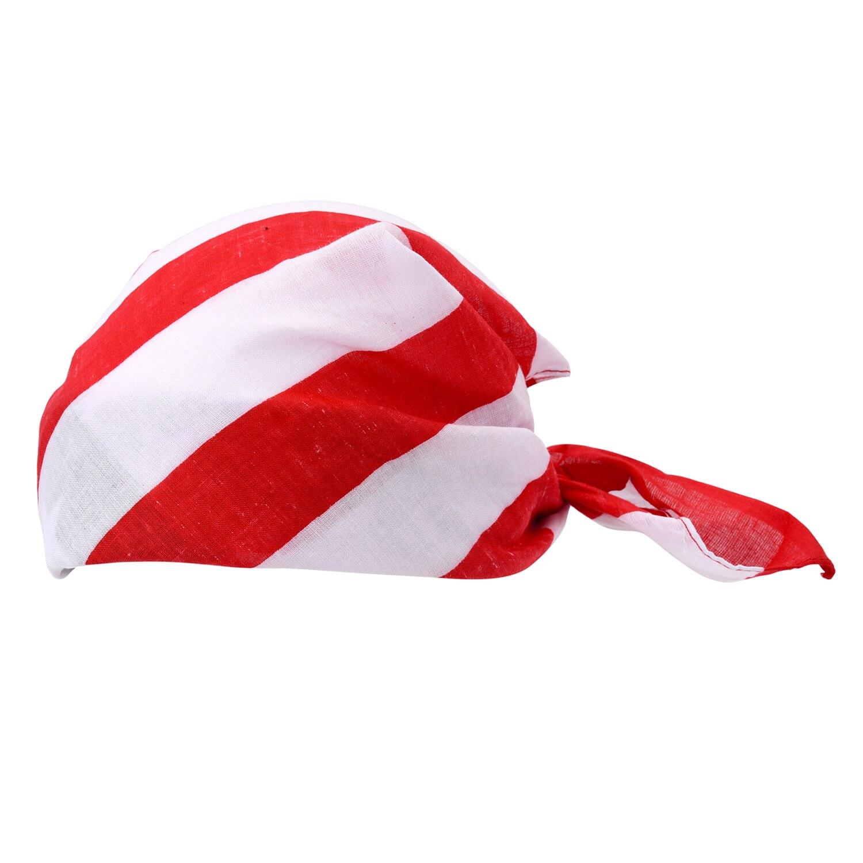 Hot Keren Bintang USA Amerika Flag Wanita Karet Rambut Kepala Band Headwrap Bandana Scarf