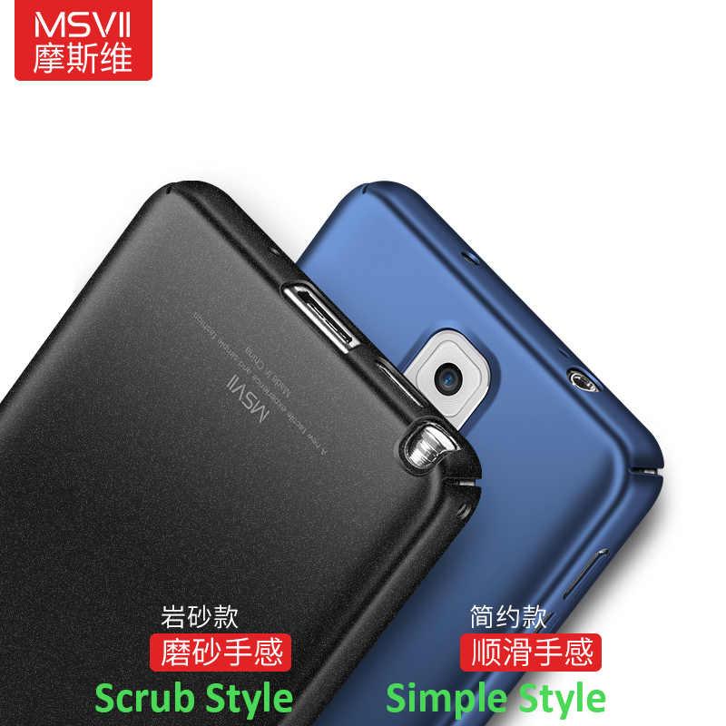 100% Марка MSVII чехол для samsung Galaxy Note 3 матовый тонкий жесткий чехол на заднюю часть, роскошный сотовый телефон защитный чехол для телефона для samsung Note3