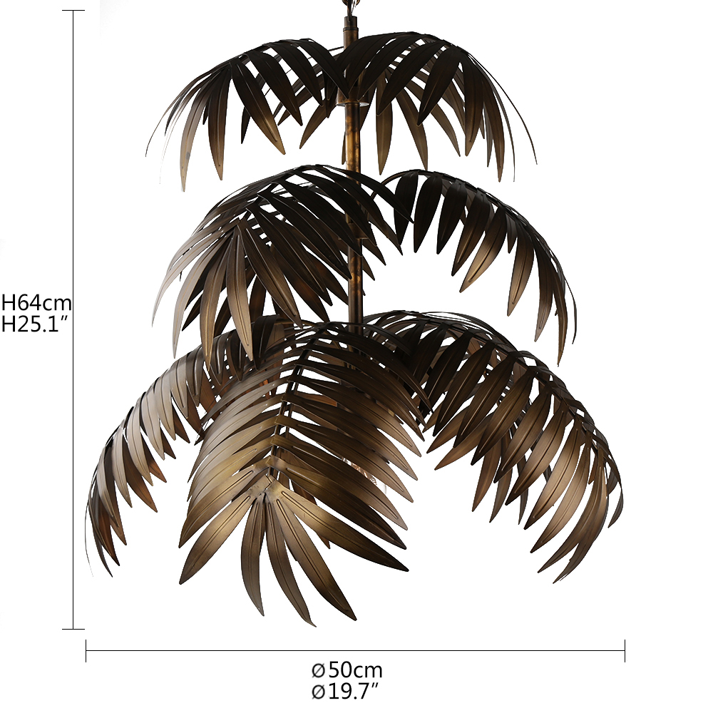 Image 2 - Loft modern coconut tree pendant light LED E27 industrial creative hanging lamp for living room restaurant bedroom lobby hotel-in Pendant Lights from Lights & Lighting