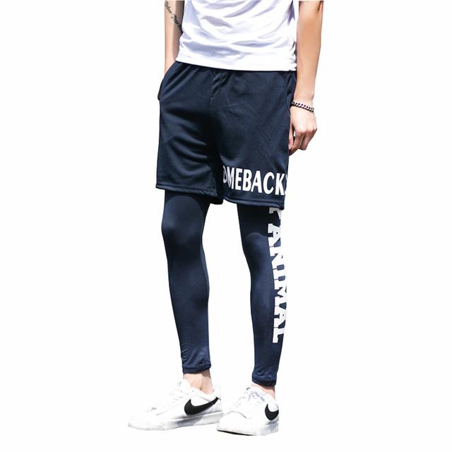 Hombres Pantalones Joggers Pantalones de Compresión de Alta Calidad Impreso hombres Culturismo Activos Leggings Pantalones Largos Ocasionales 5XL