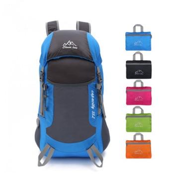 fbea04fc3 Ultra-ligero Plegable Portable Que Acampa del Morral de Los Hombres Mujeres  Deporte Al Aire Libre Bolsa de Viaje Impermeable Mochila de Senderismo ...