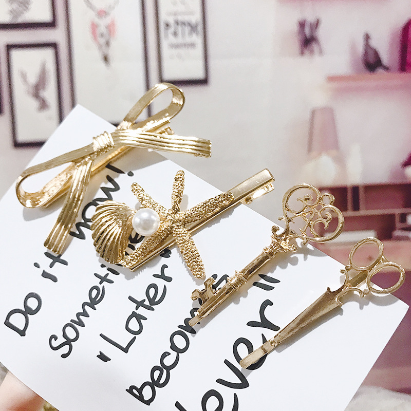 Vintage Metal Hairpins Girls Bow Key Hair Clip for Women   Headwear   Hair Accessories Adult Barrettes Hairgrips Bobby Pins