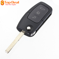Brand New 3 Buttons Remote Key With Chip For Ford Focus Mondeo Fiesta