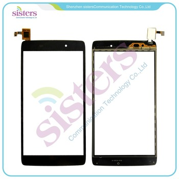 "5pcs/lot Wholesale High Quality 4.7"" Touch Screen Digitizer For Alcatel One Touch Idol 3 OT6039 6039 6039Y Black Free Shipping"