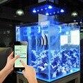 Wi-fi cob + lente 169 w led aquarium luz para coral reef marine tanque de pesca regulável aquarium led lighting fixture china/eua estoque